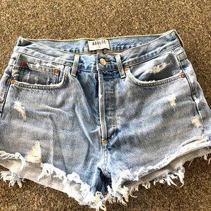AGOLDE Parker high rise jean shorts